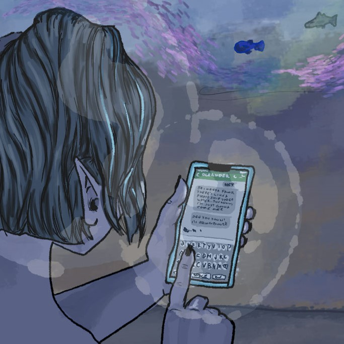 Olive texts Oleander from the Ocean floor