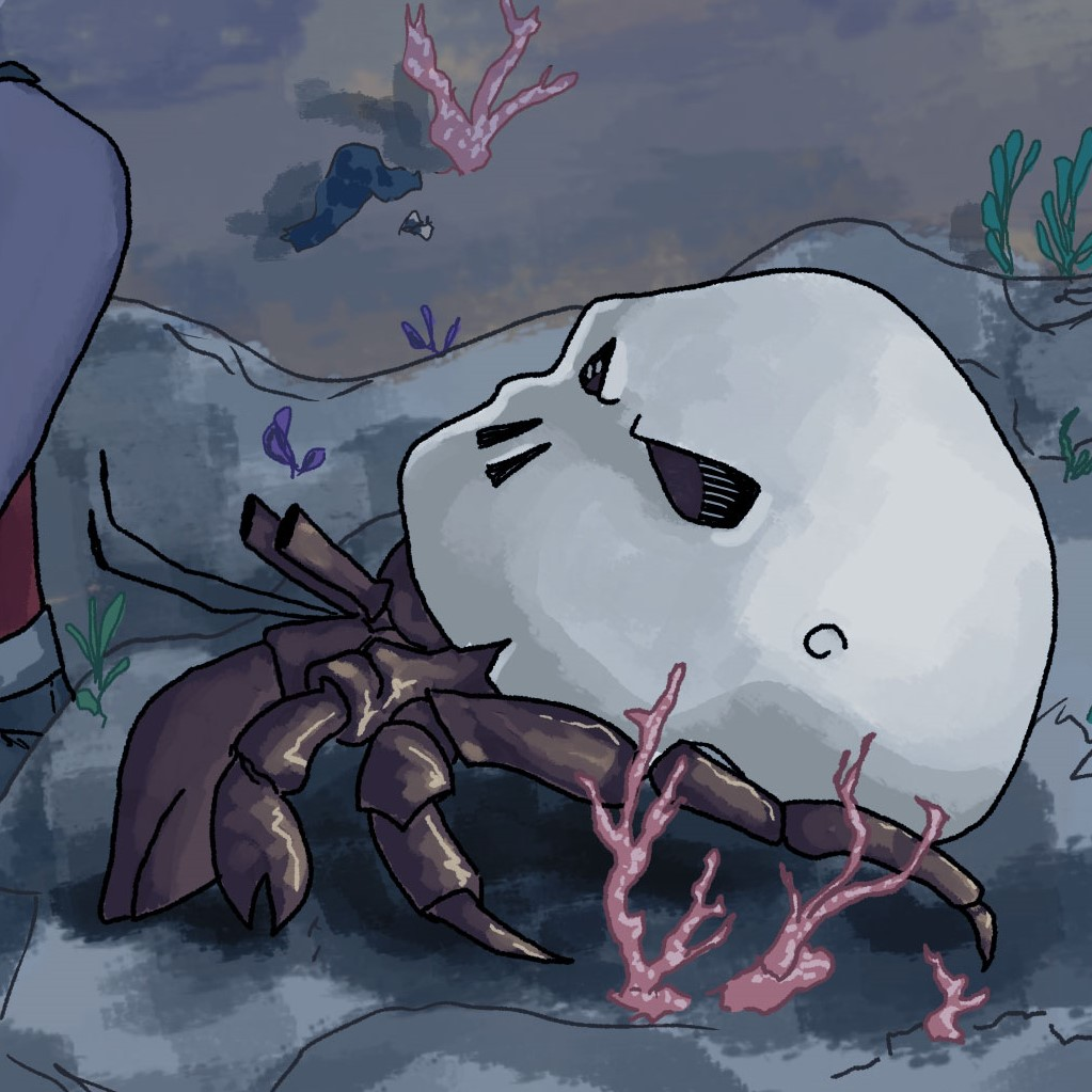 Skull Crab Comforts Olive